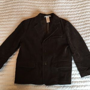 Janie and Jack Brown Corduroy Suit Jacket, Size 4